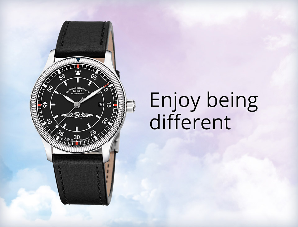 Limited Edition watch on a cloud background with caption: Enjoy being different.